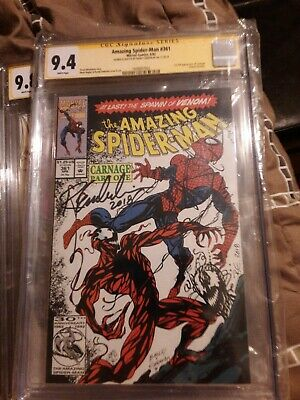 Amazing Spider-Man #361 CGC 9.4 - First Carnage! SIGNED Sketched Randy Emberlin