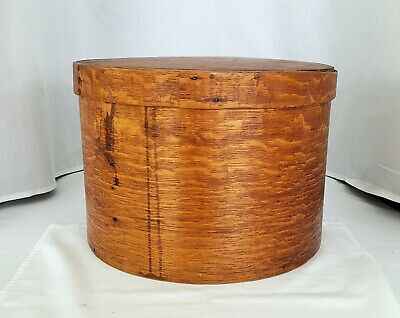 "Antique Large Wooden shaker pantry box with lid 16"" BEAUTIFUL"