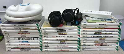 Collection/Job Lot Of Mixed Nintendo Wii Games + Various Accessories #469