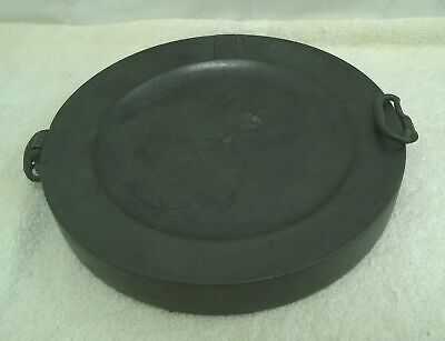 Victorian 18th Century Pewter Plate Warmer Grey With Handles #817