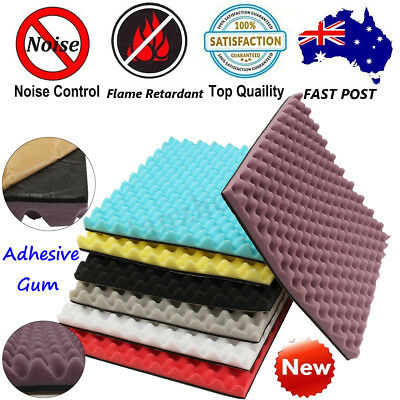 1-20 PC Self Adhesive Acoustic Studio Foam Soundproofing Absorption Treatment UK