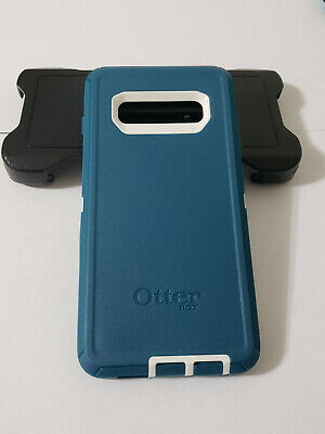 OtterBox Defender Case+Belt Clip Holster for Samsung Galaxy S10 Plus Blue - USED