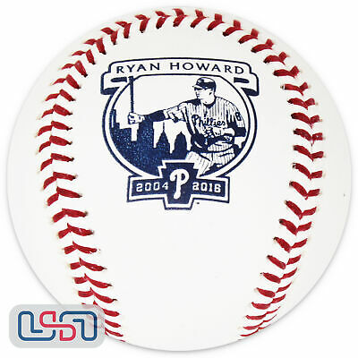 Ryan Howard Philadelphia Phillies MLB #6 Retirement Rawlings Baseball Boxed