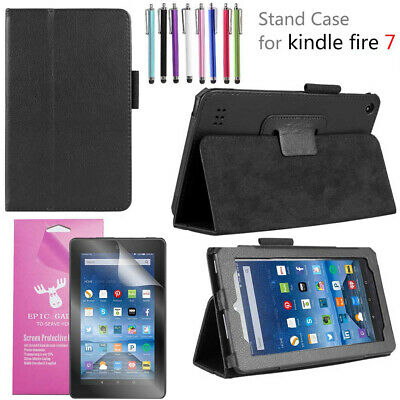 """For Amazon Fire 7 2019 9th Sleep/Wake Slim Folding Stand Cover Case For Fire 7"""""""