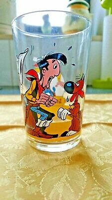 Collector -Verre moutarde Lucky Luke glass - FRANCE N° 45 -1996 (avec son chien)