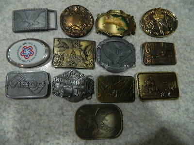 VINTAGE belt buckle LOT of 13 buckles (Lot C)
