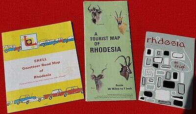 1968 Vintage Country Of Rhodesia - Africa Tourism Lot Of Three Super Rare Items