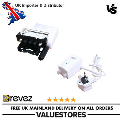 Revez Low Noise Wideband High Gain UHF LTE Variable Masthead Amplifier 1-25dB