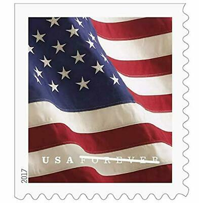 Postage Stamps U.S. Flag 2019 Forever First Class Double Sided Booklet 20 Piece