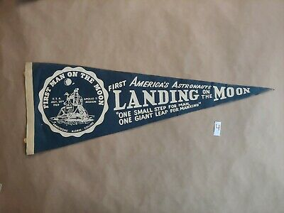 Apollo 11 First Moon Landing felt Pennant 1969 50th Anniversary NASA 4