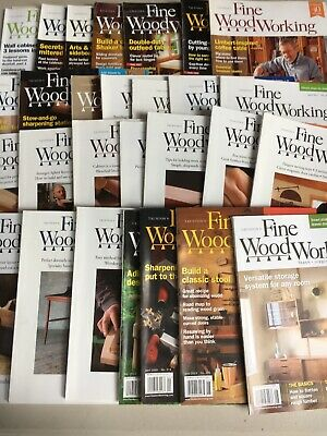 FINE WOODWORKING MAGAZINE Lot of 28. Issues From 2014-2019