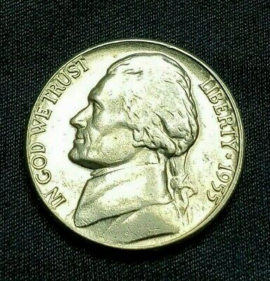 1955 D BU Jefferson Nickel, Free Ship!