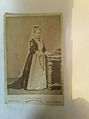 portrait photo  card  no name on card  by robert w thrupp birmingham  great cond