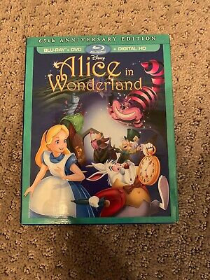 Alice in Wonderland (65th Ann Bluray/DVD DMC Exclusive) *No Digital* W/Slipcover