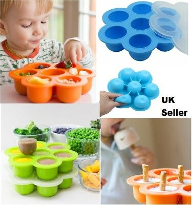 Silicone Baby Food Freezer Tray Weaning Storage Containers Food Mold Mould Pan%F