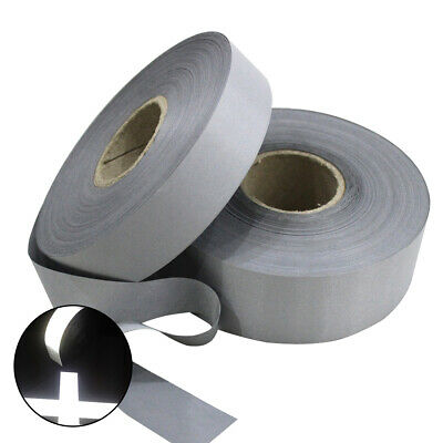 20//25//30//40//50mm Visibility Reflective Sew on Tape SILVER//GRAY witdh