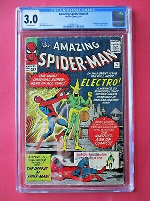 Amazing Spider-Man #9 - CGC 3.0 - 1st Appearance of Electro - Huge Key Issue