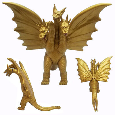 "Godzilla Movie King of the Monster Ghidorah 3 Heads Gold Dragon 7"" Action Figure"