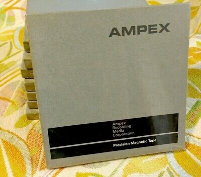 """LOT of 8 Ampex Precision Magnetic Tape 1/4"""" x 2300' #797-15DW11 Sealed USA"""