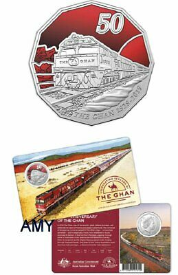2019 The Ghan Train 90Th Anniversary Coloured Uncirculated Coin
