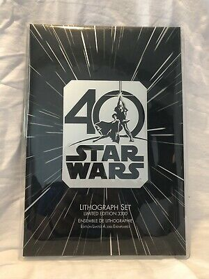 Disney Star Wars 40th Anniversary Lithograph Set Limited Edition 3300