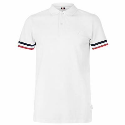 Soviet Tipped Polo Shirt Mens White Collared Top Tee X-Small