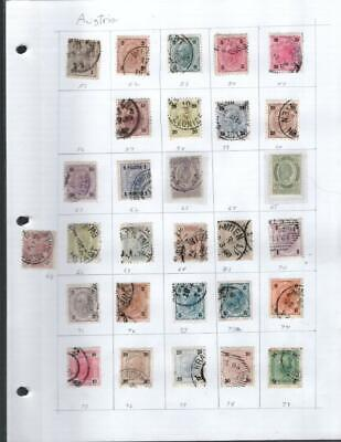 1¢ Wonder's ~ Austria Classics Used On Page All Shown ~ N704