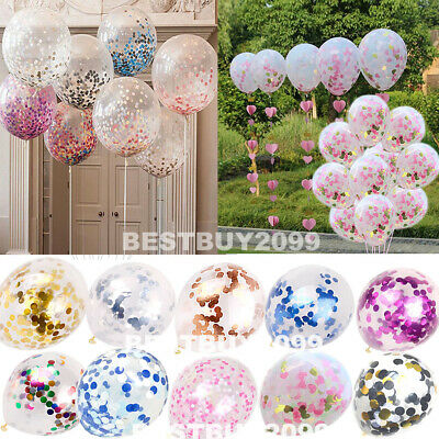 "10pcs 12"" Confetti Latex Balloons Wedding Birthday Hen Party Baby Shower Balloon"
