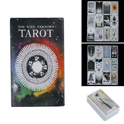 78pcs the Wild Unknown Tarot Deck Rider-Waite Oracle Telling Fortune Card S X6J7