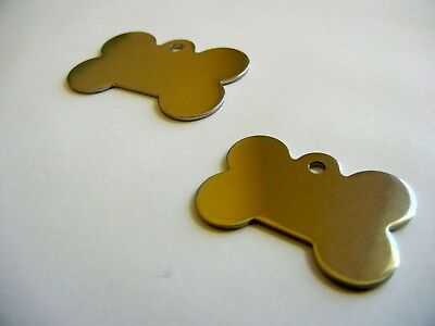 pet tags( Dog Bone only)  free custom diamond engraved both sides