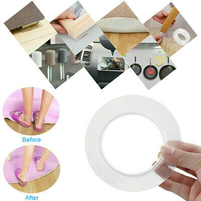 Magic Double sided Grip Tape Invisible Tape Traceless Washable Adhesive Nano Gel
