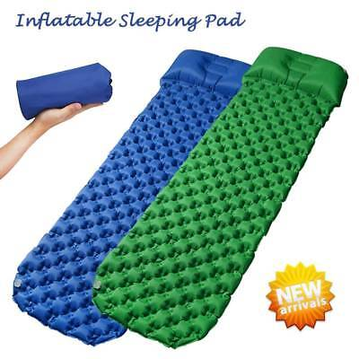 Ultralight Inflatable Camping Mattress Air Mat Sleeping Pad Hiking Roll Bed Mat