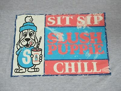 Slush Puppy - Sit Sip Chill Puppy With Drink - Gray Xl T-Shirt - Y183