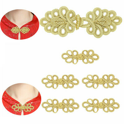 5 Pairs Handmade Leaves Shape Chinese Knot Tang Suit Cheongsam DIY Sewing Button