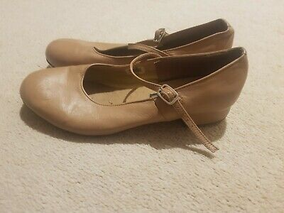 Ladies Tan Leather Tap Shoes ENERGETIKS Size 9.5