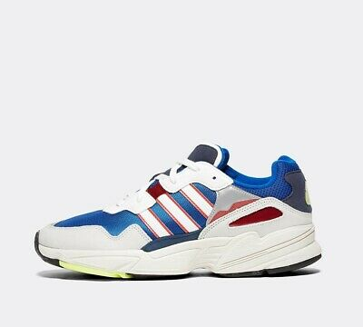 Mens Adidas YUNG-96 White/Blue/Red Trainers RRP £84.99