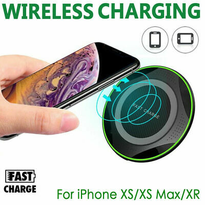 Fast Qi Wireless Charger Dock For iPhone X 8 plus XR XS Samsung S8  plus Note9 Q
