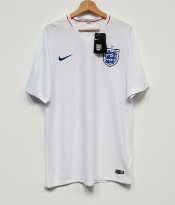 New England White Home Slim Fit Football Shirt by Nike - Size XXL
