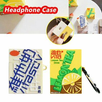 For apple Airpods Charging Case Funny Lemon Tea Drink Earphone Bag Cover SP