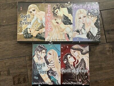 Spell of Desire Complete Vols 1-5 Manga Tomu Ohmi English Language