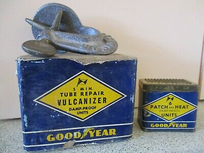 Vintage 1950s Goodyear Tyre Tube Vulcanizer Puncture Repair Kit NEW OLD STOCK