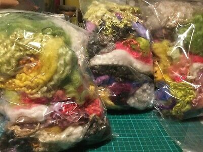 100 gms POT LUCK mixed hand dyed rare breed locks