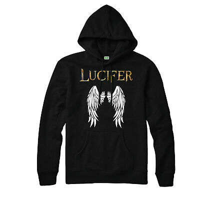 Lucifer Morningstar Hoodie, Tom Ellis Wings Of The Devil Adult & Kids Hoodie Top
