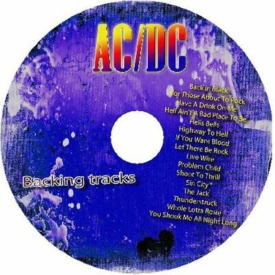 Ac/Dc Guitar Backing Tracks Cd Best Greatest Hits Music Play Along Mp3 Rock