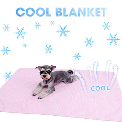 Self-Cooling Pet Blanket Dog Cat Ultra Soft Breathable Sleep Pad Heat Relief Mat
