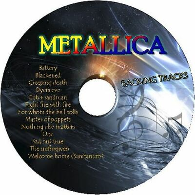 Metallica Guitar Backing Tracks Cd Best Greatest Hits Music Play Along Jam
