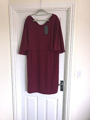 Burgundy Blooming Marvellous Nursing  Dress Size 20 BNWT Mothercare May Fit 18