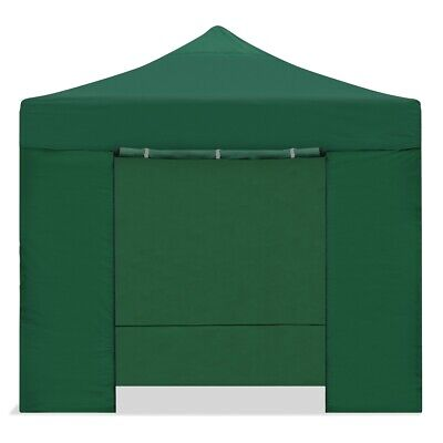 Carpa plegable 3x3m impermeable eventos plegado facil color Verde -McHaus