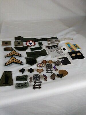Junk Drawer LOT Vintage Military Pin Buttons patches picture boy scout coin A100