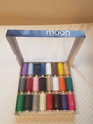 Coats Moon Thread Gift Box 24 x 1000 yards spun Polyester Sewing Thread Bright